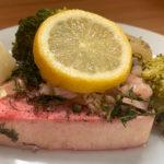 דג סלמון בתנור - גרסת הטופו